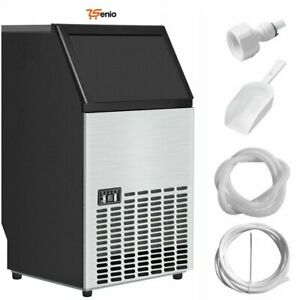 Portable Stainless Steel Ice Maker Machine Commercial Free Standing Rsenio