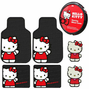 Sanrio Hello Kitty Core Car Truck Floor Mats Steering Wheel Cover Air Freshener