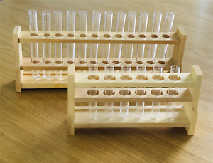 Wooden Test Tube Holder Lab Support Science Educational Wood Stand