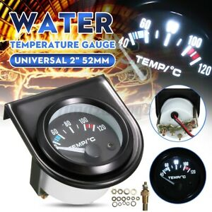 2 52mm Electric Car Water Temperature Temp Gauge Led Pointer Universal Vehicle