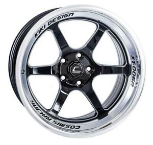 Cosmis Racing Xt 006r 18x11 8mm 5x114 3 Black W Machined Lip Rim Wheel