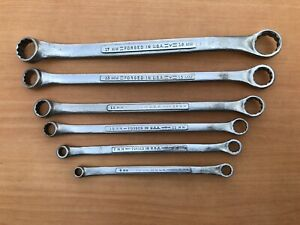 Vintage 6pc Craftsman Metric Series V Double Box End Wrench Set Made In Usa