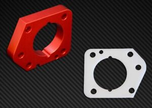 Torque Solution Throttle Body Spacer Red For Honda Civic Lx Ex Dx R18 2006 2011