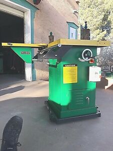 Woodtec Industrial Wood Shaper 3hp Reversible Spindle With Sliding Feed Table