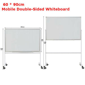 Mobile Whiteboard Magnetic Dry Erase Board 60 90cm Double Sided With Stand Xl