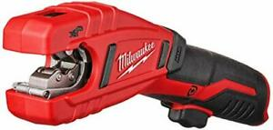 Milwaukee 2471 20 M12 500 Rpm Copper Pipe And Tubing Cutter tool Only