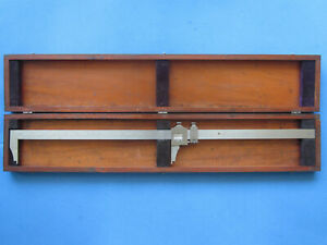 Brown Sharpe 24 Vernier Caliper 570 With Vintage Wood Case