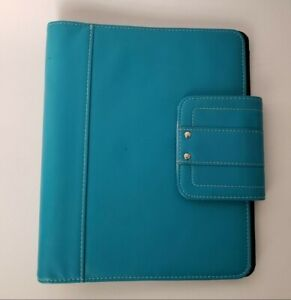 Day timer Classic 7 Ring Planner Binder Blue Turquoise Synthetic Snap 7 Rings 1