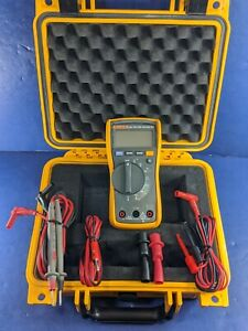 Fluke 115 Trms Multimeter Screen Protector Excellent Hard Case More