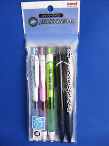 5 Uni ball Jetstream Black Ballpoint Pens 0 7mm 2 From Japan