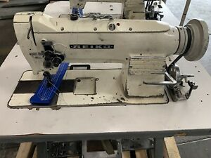 Used Seiko Consew Industrial Double Needle Sewing Machine Walking Foot
