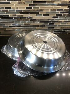 2 Stainless Steel Catering Food Plate Cover 11 1 2 Diameter Restaurant Safety