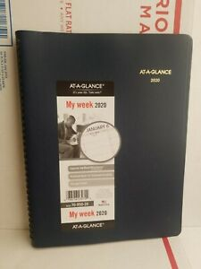 At a glance 70 950 20 Weekly Appointment Book Planner Navy Blue