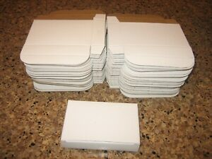 Qty 75 Small White Boxes Gift Box Lot 5 X 3 1 4 X 1 Perforated With Lid