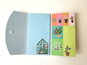 160 Jot Plant Printed Sticky Notes Memo Pad Trifold Booklet Set