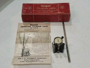 Starrett Cylinder Gauge To Check Roundness And Taper Original Box Instructions