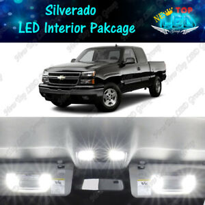 White Led Interior Lights Package Kit For 1999 2006 Chevy Silverado 1500 2500