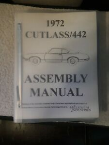 1972 72 Oldsmobile Cutlass 442 Assembly Manual Used But Info Still Good
