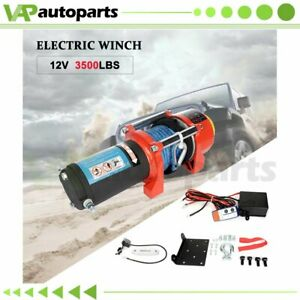 1x Electric Winch 3500lb Synthetic Rope 12v Truck Trailer For Toyota New