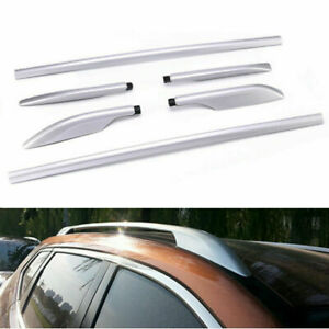 Alloy Top Roof Side Rails Luggage Rack For Nissan Rogue X Trail 2014 2017 15 16