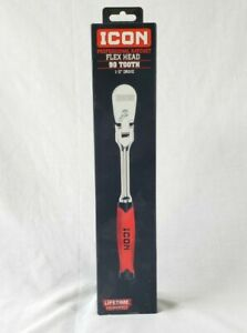 Icon Professional Ratchet Flex Head 90 Tooth 1 2 Drive 64702 Brand New