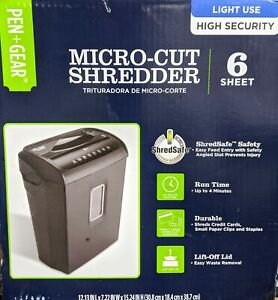 Pen Gear 6 sheet High Security Micro cut Paper credit Card Shredder
