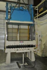 50 Ton Williams And White 4 Post Hydraulic Press Stroke 36 Inches Daylight 46