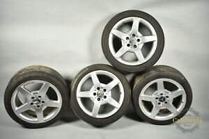 Mercedes W209 Clk500 Slk350 7 5 8 5 X 17 17 Wheel Rims Staggered Set Of 4 Oem