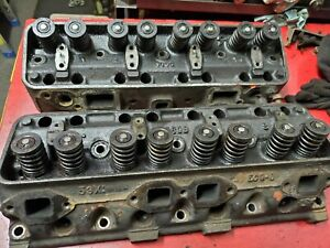 50 S Ford Y Block 239 256 272 292 Set Of Cylinder Heads Ecg D