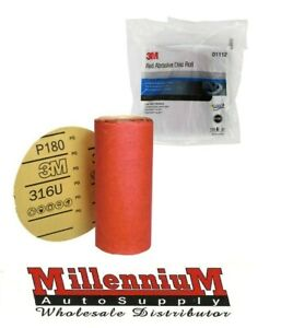 3m Red Sandpaper 180 Grit Sanding Disc Roll Of 100 For 6 Da Sander Sticky Back