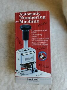 Stockwell Office Products Automatic Numbering Machine New Old Stock