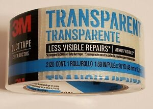 3m transparent Duct Tape 1 88 X 20 Yards new