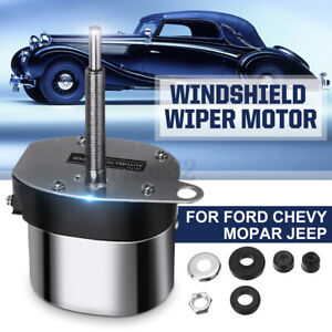 Universal Street Hot Rod Windshield Wiper Motor For Ford Chevy Jeep 12