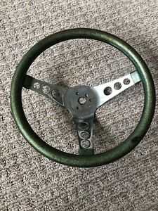 Vintage Metal Flake Custom Steering Wheel Superior 500 Hot Rod Rat Truck Gasser