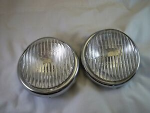 Hassia 5 Lens Clear Glass Drive Fog Lights Vw Porsche Vintage Nos Lenses Only
