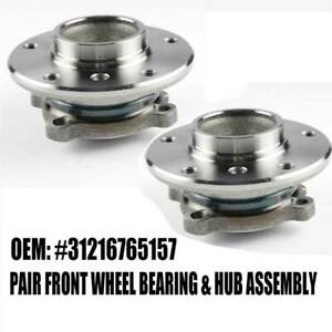 Front Hub Wheel Bearing Assembly Left Right Kit 2pcs For Bmw E82 E88 E89 E90