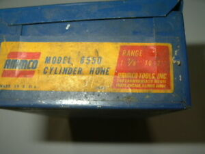 Ammco Cylinder Hone Used In Good Condition And 7 Sets Of New Stones 1 3 8 2