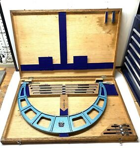Fowler Outside Micrometer Set 16 To 20 Complete Set Excellent Condition