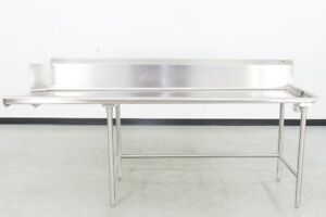 Used Stainless Steel 96 Right Side Clean Dishtable 560024