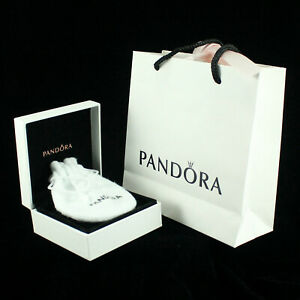 Pandora Gift Bag 4 With Velvet Lined Box Draw String Bag Tissue Paper
