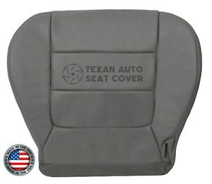 02 03 Ford F150 Lariat Fx4 Driver Side Bottom Synthetic Leather Seat Cover Gray