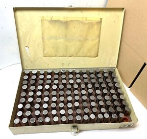 Vermont Pin Gage Set 626 To 750 124 Gages Clean And In Case