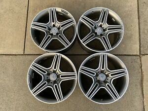 13 16 Oem Mercedes Sl63 Sl65 Amg 19 Wheels Set Machined Staggered Rims
