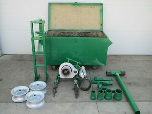 Greenlee 686 4000 Lb Cable Puller Wire Tugger Chugger Package W 640 Motor Used