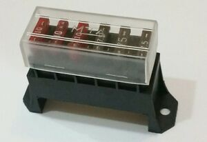 Arctic Cat Atv 6 Way Fuse Box Block 12v With A Clear Cover Auto Boat Cycle Atv