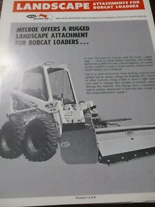 4 Melroe Bobcat Skid steer Loaders Attachments Sales Brochures Circa 1970 s