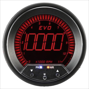Prosport Universal 85mm Evo Tachometer With Peak Warning 0 10 000 Rpm