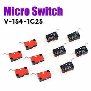 10pcs V 154 1c25 Momentary Limit Micro Switch Spdt Snap Action Switch
