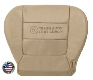 2002 2003 Ford F150 Lariat Super Cab Driver Bottom Leatherette Seat Cover Tan