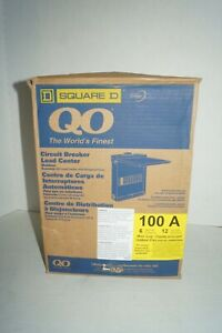 Square D Qo 100 Amp 6 space 12 circuit Outdoor Main Lug Load Center With Cover